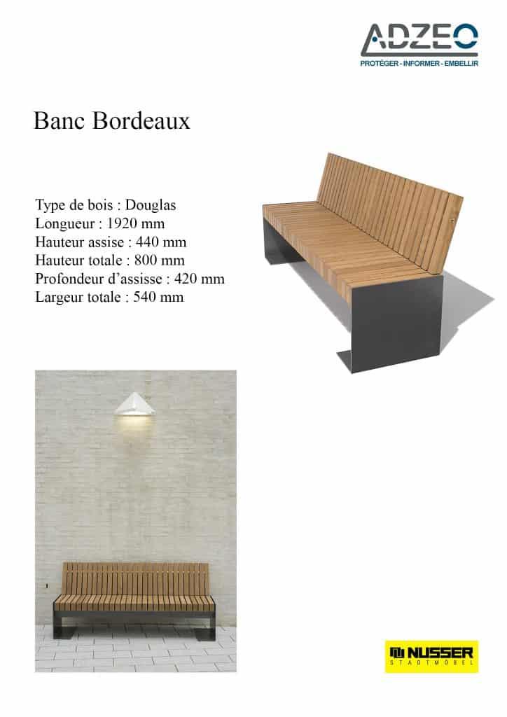 Banc bordeaux design soign et pur mobilier urbain for Bordeaux design
